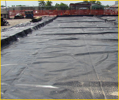 spill containment berms used for frac tanks, decontamination, and to prevent accidental acid spill